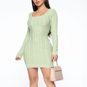 New fashion nova Sweater Mini Dress - Mint Small